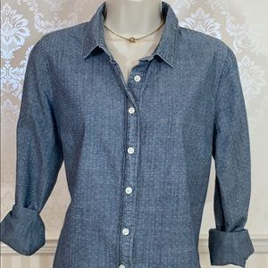 J. Crew Tops - J. Crew Button-Down Shirt in Polka Dot Chambray
